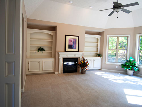 Living Room and Family Room Design, New Home Construction
